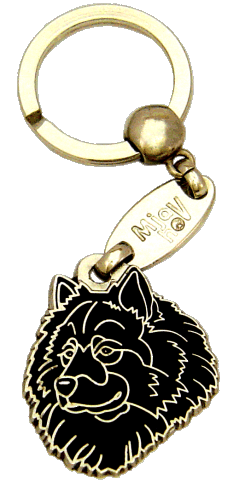 EURASIER BLACK - pet ID tag, dog ID tags, pet tags, personalized pet tags MjavHov - engraved pet tags online